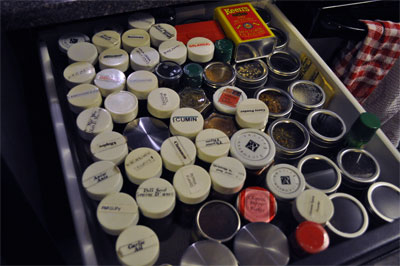 This is my spice drawer.