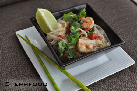 Rice Noodles with Shrimp & Cilantro