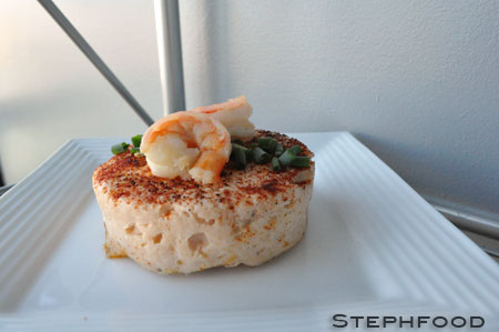 Trout and Shrimp Pâté round