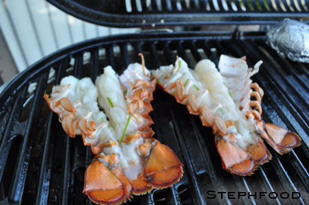 BBQ Lobster - on the grill