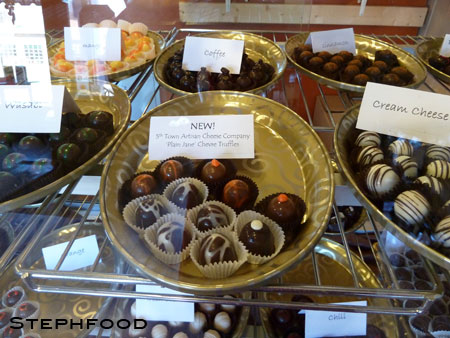 Copper Kettle Chocolate Company - goat cheese truffles