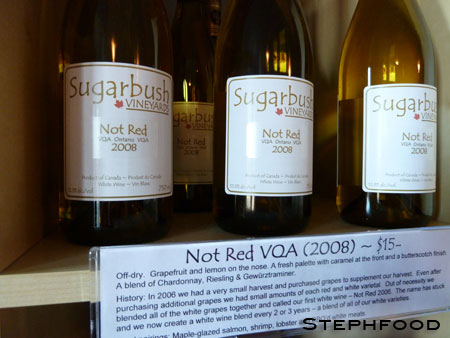 Sugarbush Winery - Not Red