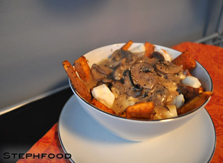 Sweet Potato Poutine with Mushroom Gravy | Steph Food