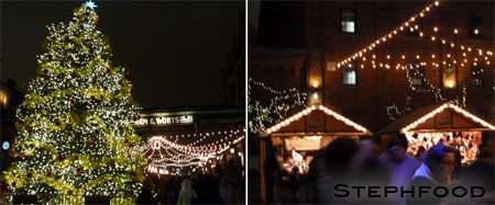 Distillery Xmas Market - lights