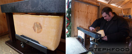 Distillery Xmas Market - Raclette Making