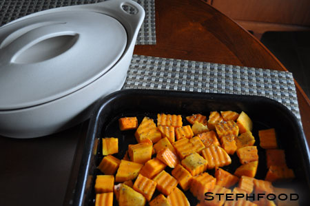Chopped and Seasoned Squash