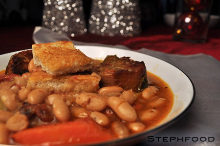 Vegetarian Cassoulet - closer