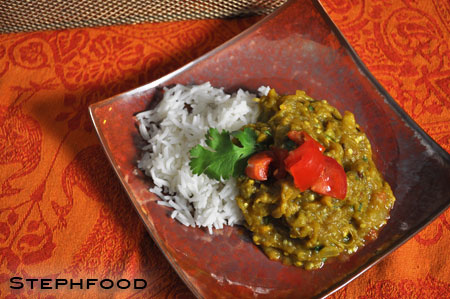 Spicy Indian Eggplant - plated