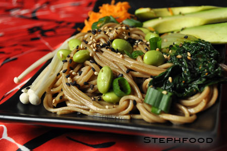 Soba Noodle Salad - close