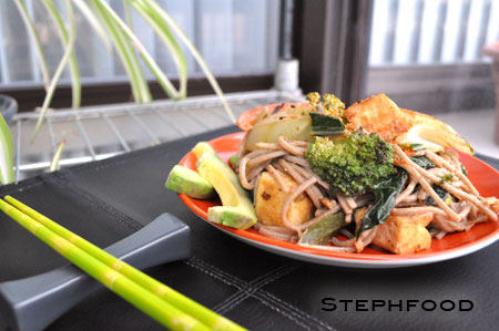 Soba Noodle, Tofu, and Vegetable Stir-Fry | Steph Food