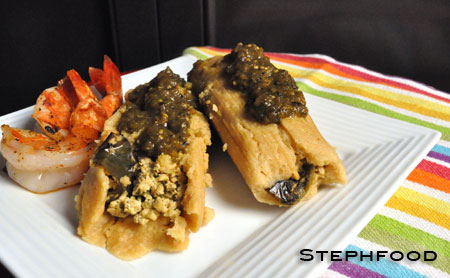 Tofu and Poblano Tamales