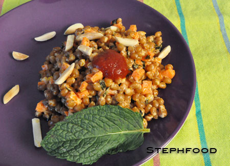 Wheat Berry Salad with Harissa