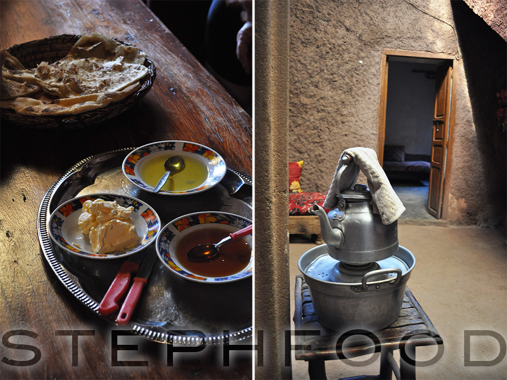 Breakfast in a home in the Oureka Valley.