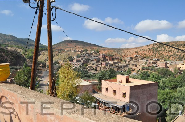 The view from the roof of the Berber house.