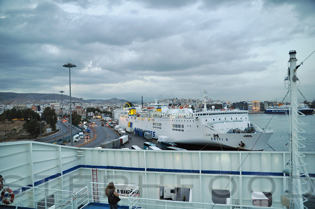 Greece - a ferry in the dock
