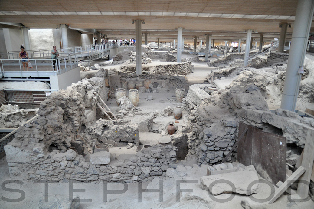 Ancient Akrotiri site
